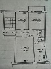 Квартира 3-хкомнатная в г. Сморгонь обмен